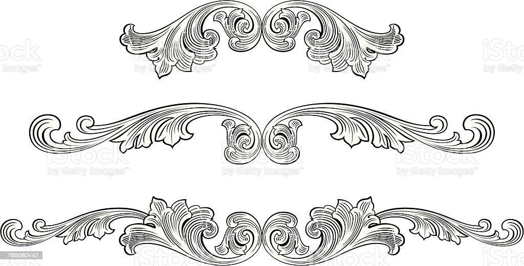 Scroll Centres vector art illustration
