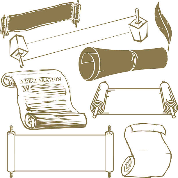 Scroll Collection Clip art collection of various scrolls declaration of independence stock illustrations