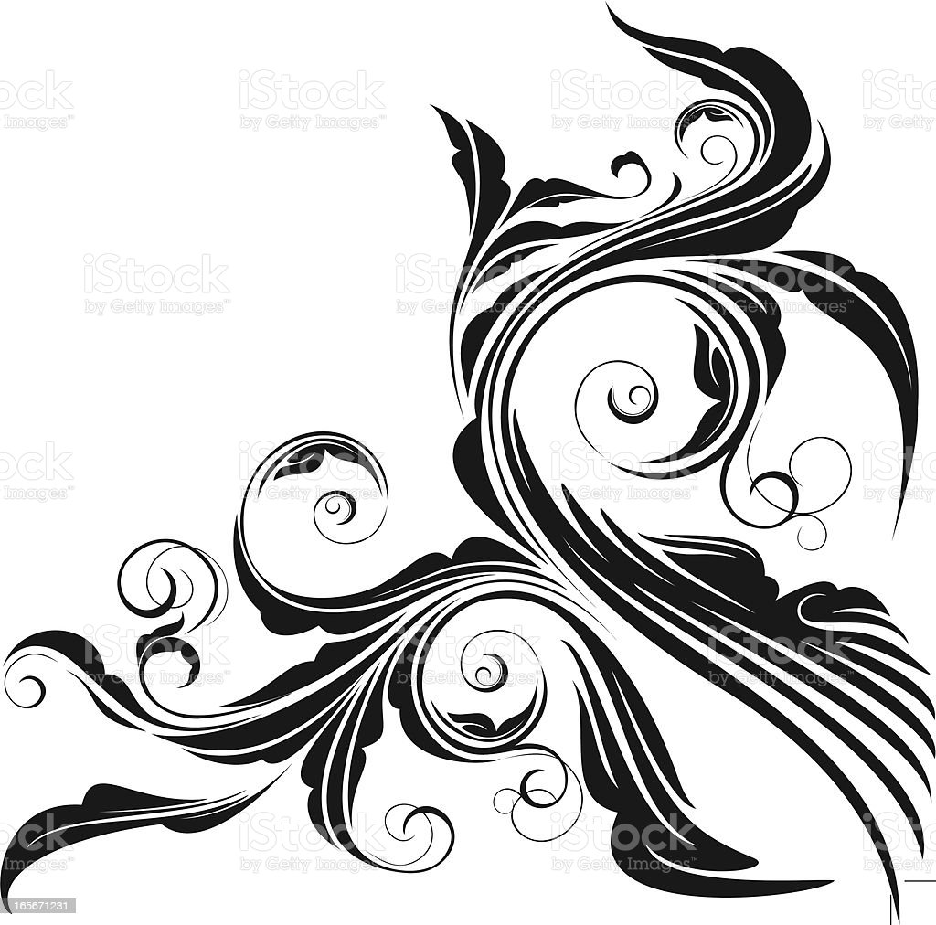 Scroll Corner royalty-free stock vector art