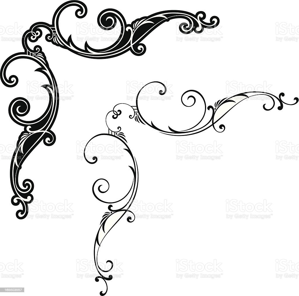 Scroll Corners royalty-free scroll corners stock vector art & more images of acute angle