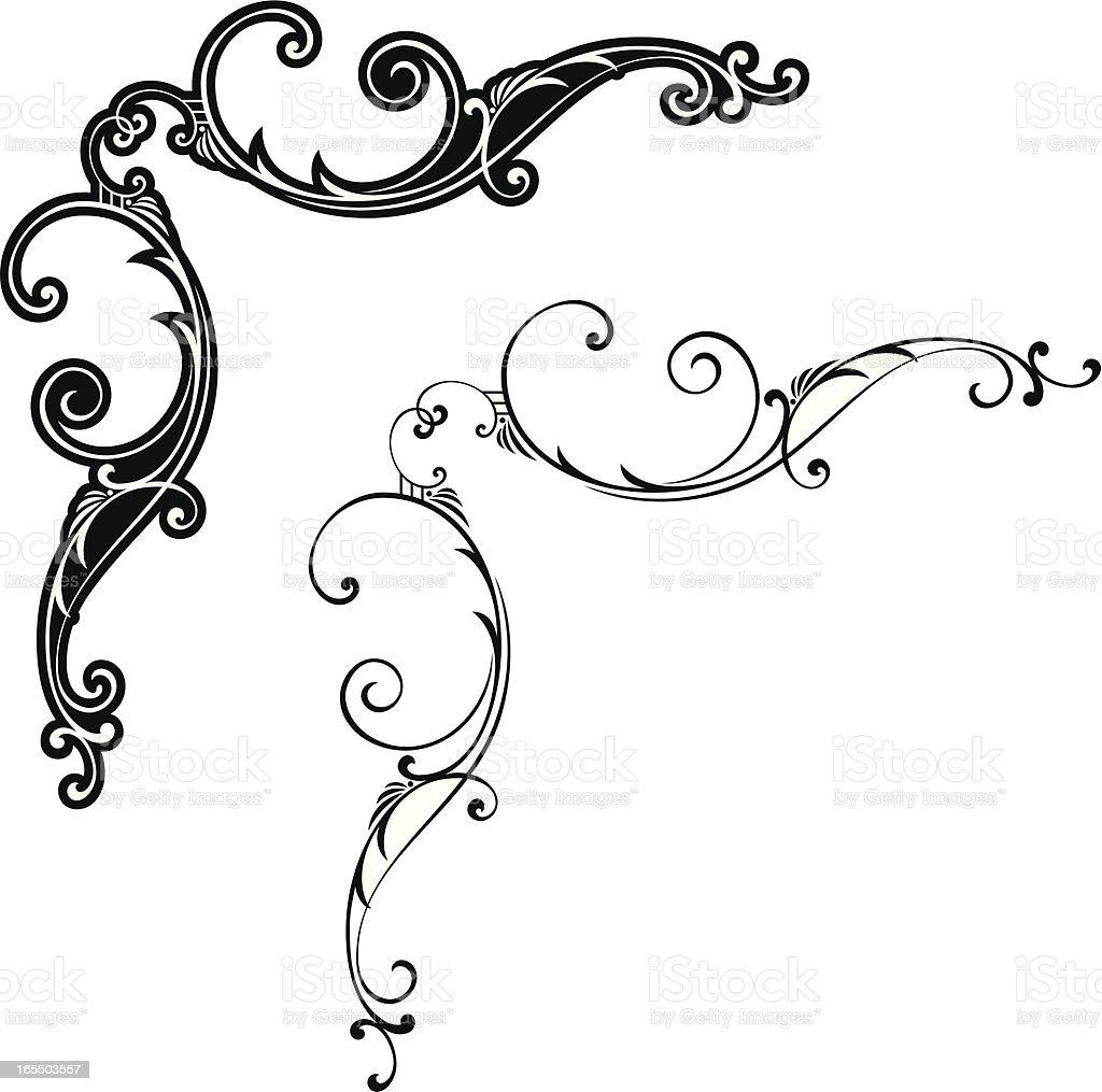 Scroll Corners vector art illustration