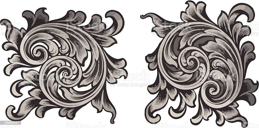 Scroll Delight royalty-free stock vector art