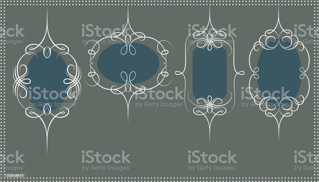 Scroll Design Frame Set royalty-free stock vector art