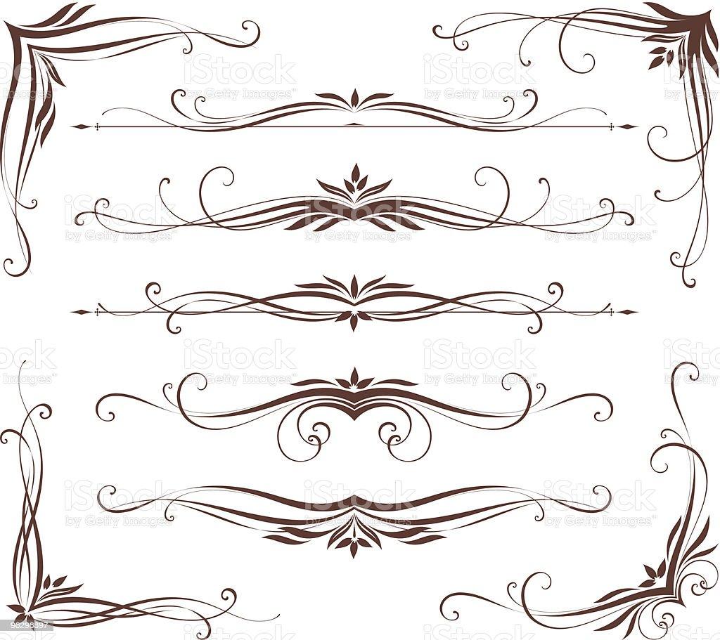 scroll design set royalty-free stock vector art