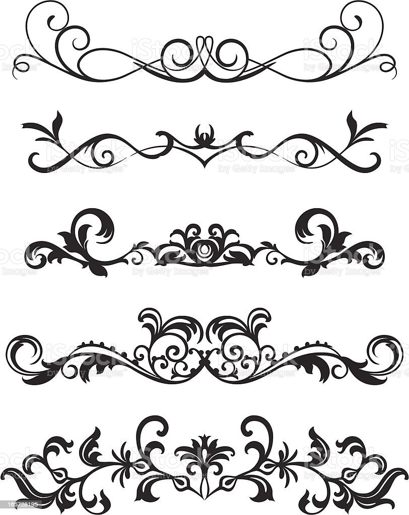 scroll design stock vector art amp more images of abstract