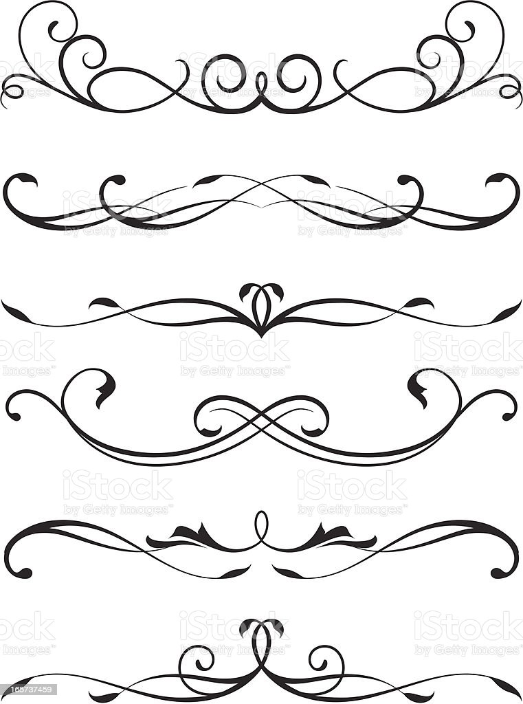 scroll design stock vector art more images of abstract 165737459