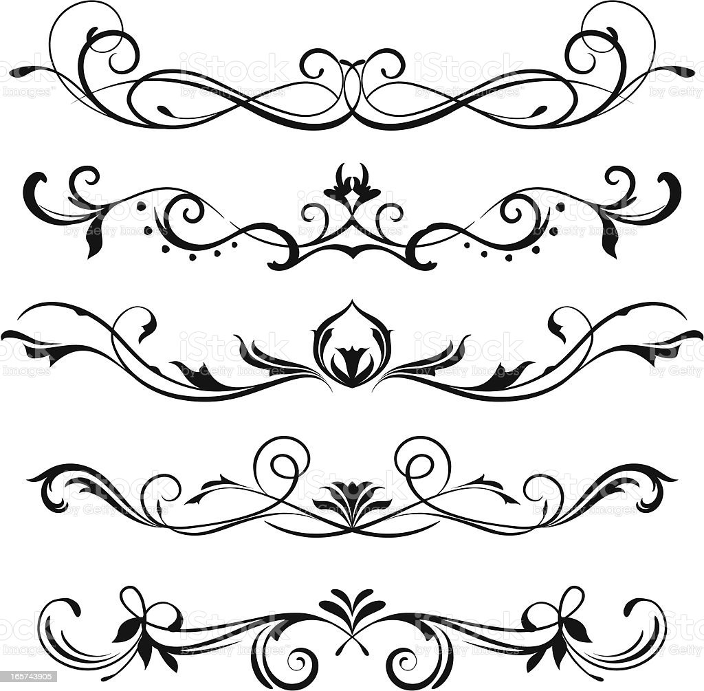 Scroll Design Stock Illustration - Download Image Now - iStock