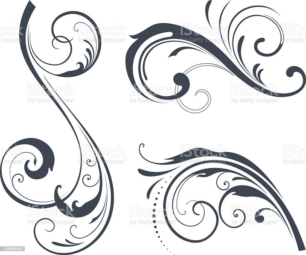 Scroll Design vector art illustration