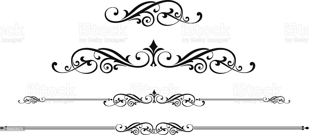 scroll designs stock vector art more images of black and white rh istockphoto com vector scroll art vector scrolls and flourishes free