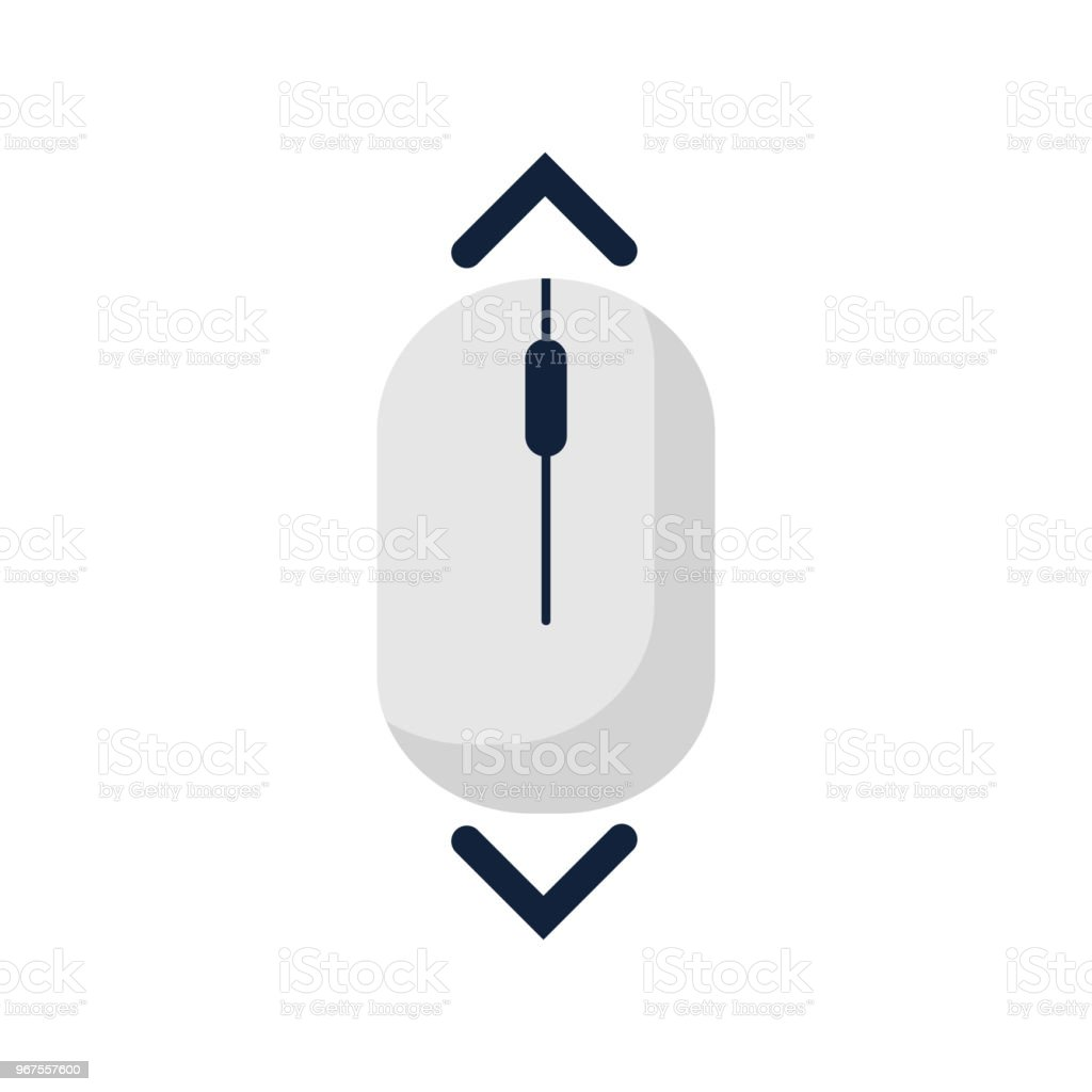 Enjoyable Scroll Down Up Computer Mouse Icon Symbol Flat Style Design Vector Wiring 101 Ferenstreekradiomeanderfmnl
