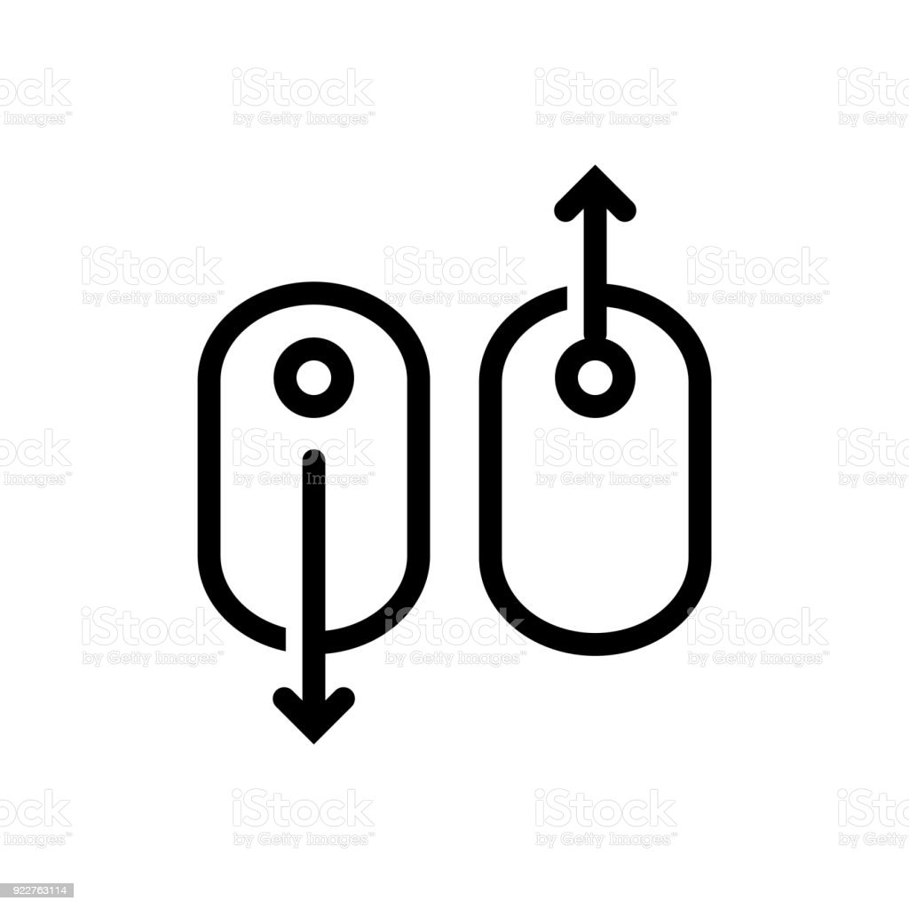 Scroll Down Up Computer Mouse Icon Vector Illustration Stock Vector