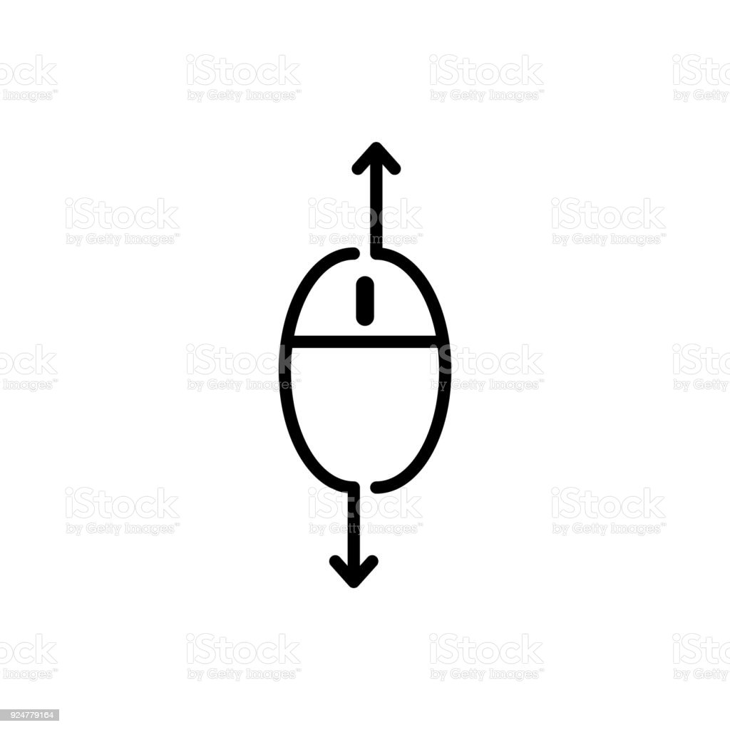 scroll down up computer mouse icon vector illustration stock vector rh istockphoto com computer mouse vector file computer mouse vector file