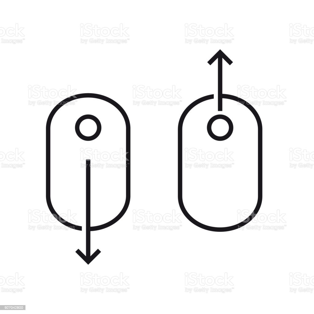 Scroll Down Up Computer Mouse Icon Vector Illustration Stock Diagram Royalty Free