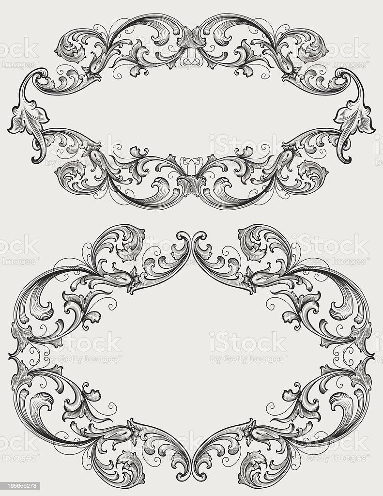 Scroll Filigree Frames Stock Vector Art & More Images of 2000-2009 ...