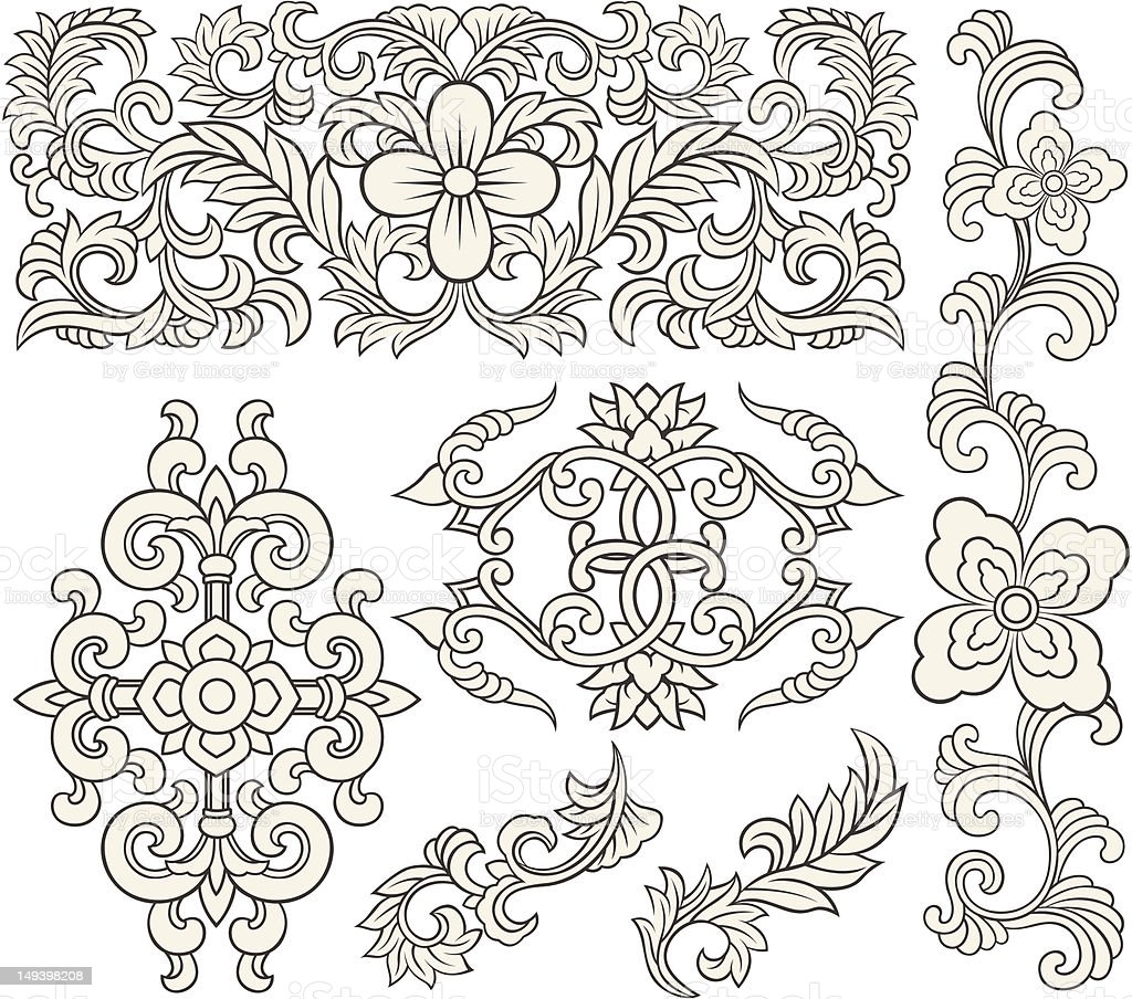 scroll floral pattern royalty-free scroll floral pattern stock vector art & more images of abstract