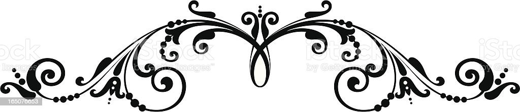 Scroll Flourish royalty-free scroll flourish stock vector art & more images of architectural feature