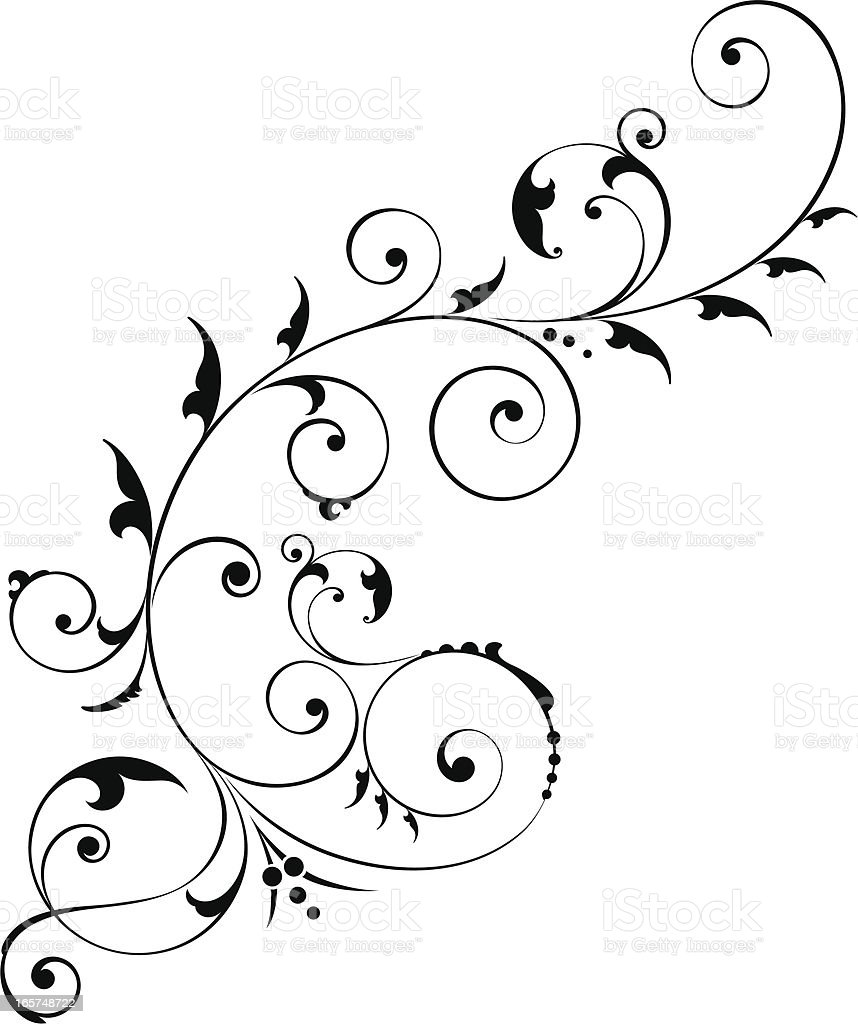 Scroll Formation vector art illustration