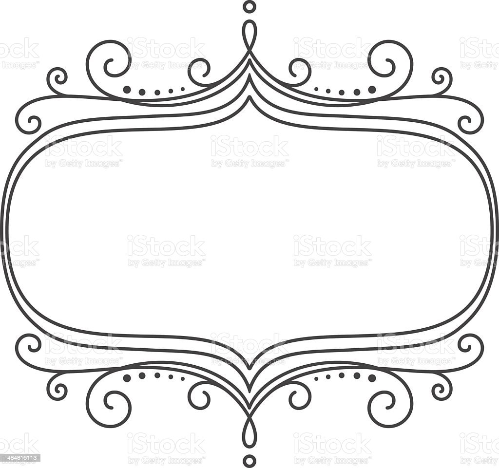 Scroll Frame Stock Vector Art & More Images of Black And White ...