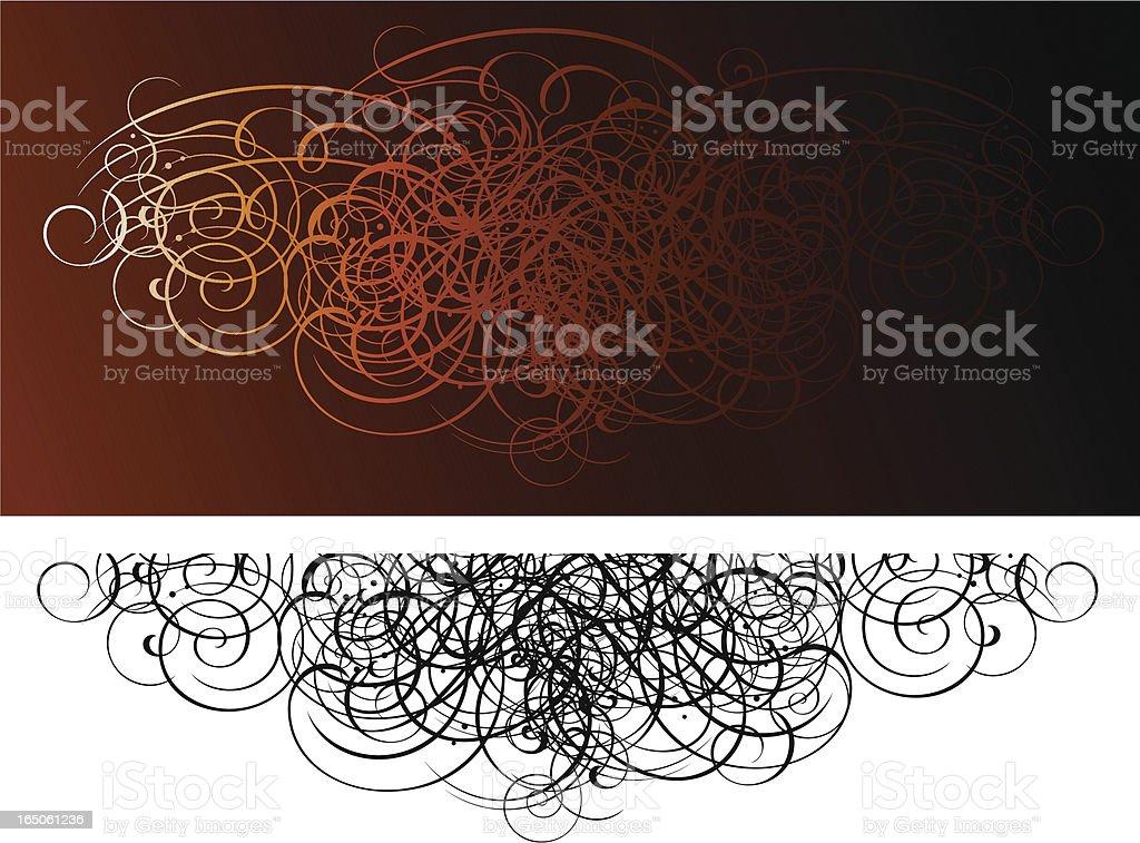 Scroll Grunge Invasion royalty-free stock vector art