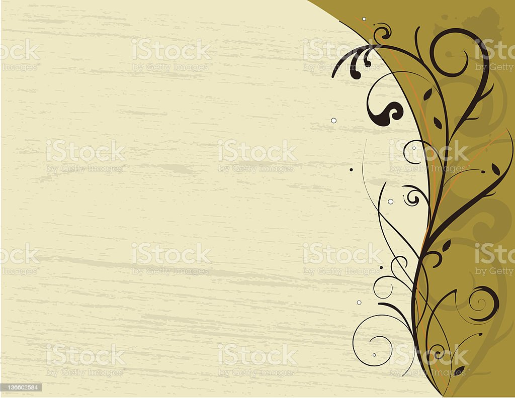 Scroll in spring royalty-free stock vector art