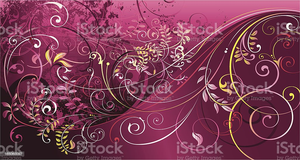 Scroll Invasion royalty-free stock vector art