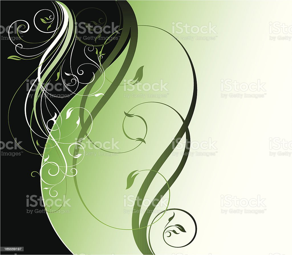 Scroll Leaves Background royalty-free stock vector art