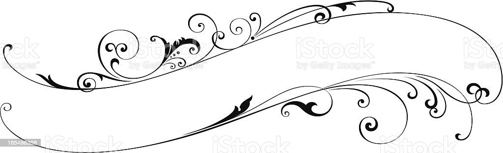 Scroll Lettering Design vector art illustration