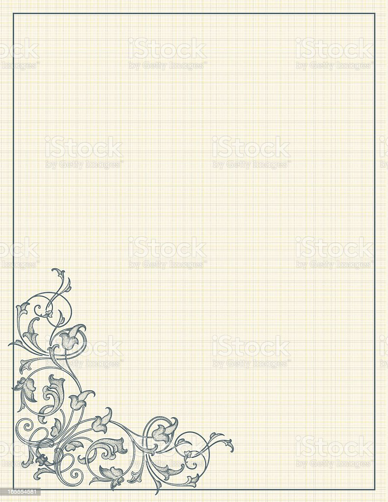 Scroll Linen royalty-free stock vector art