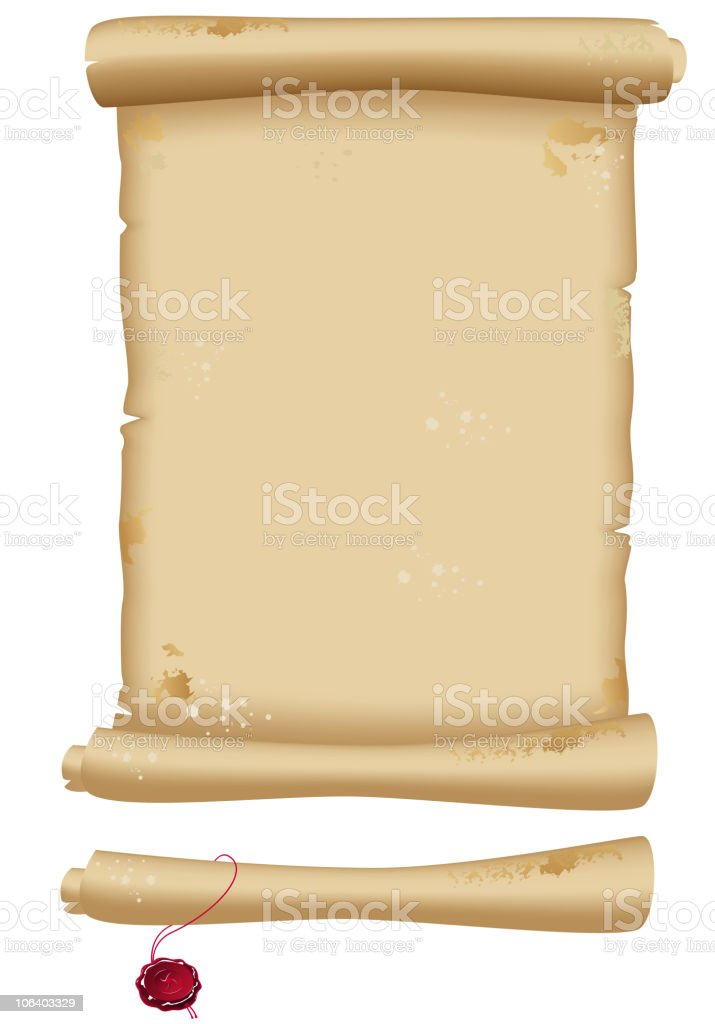 scroll of old parchment royalty-free stock vector art