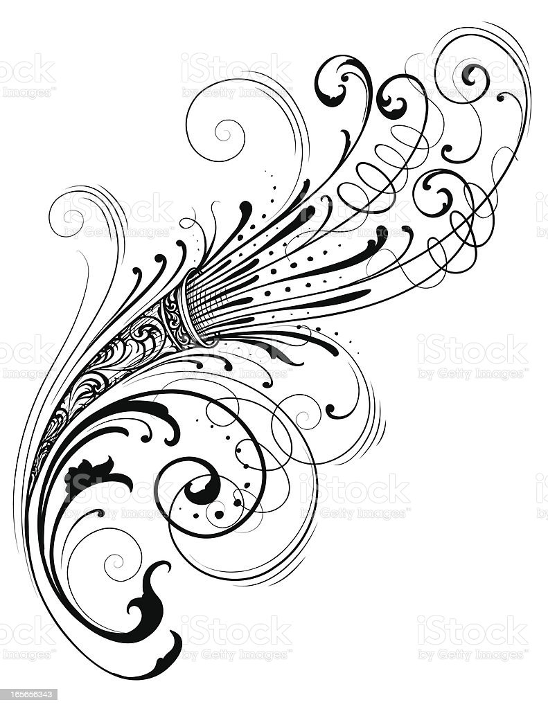 Scroll Ornate Element vector art illustration
