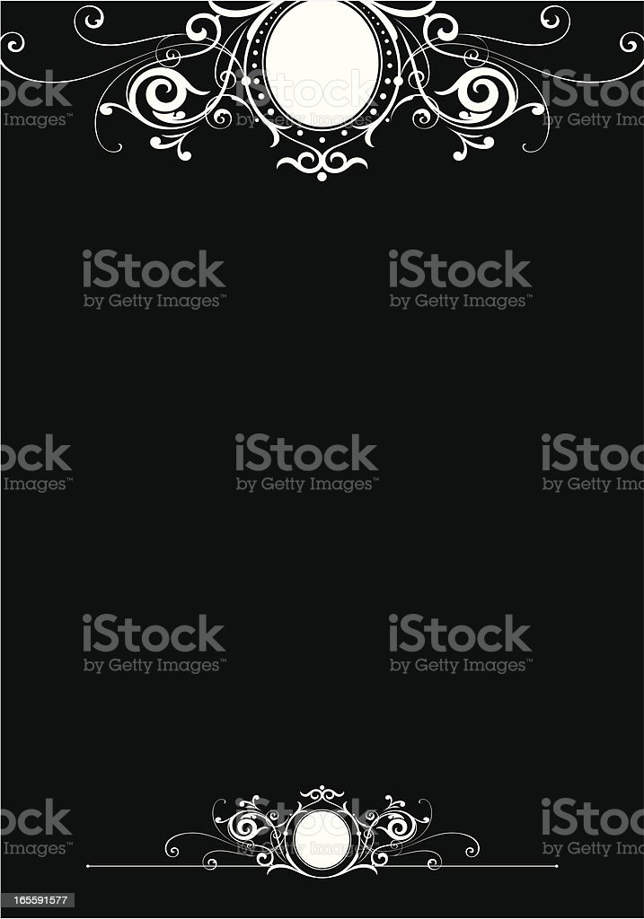 Scroll Page Letter Design vector art illustration