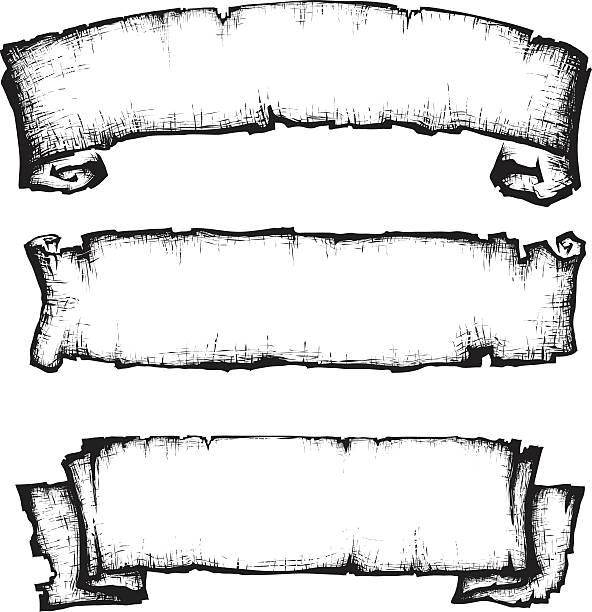 scroll paper banner - Illustration vectorielle
