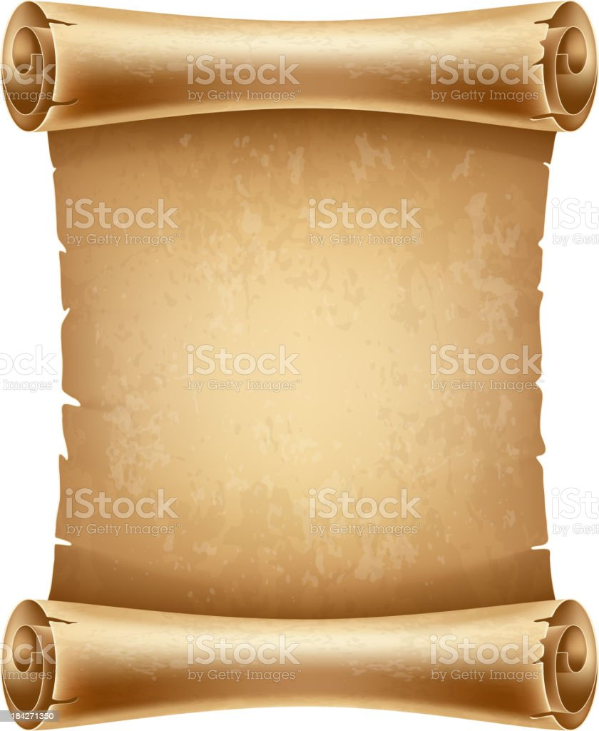 Scroll paper vector art illustration