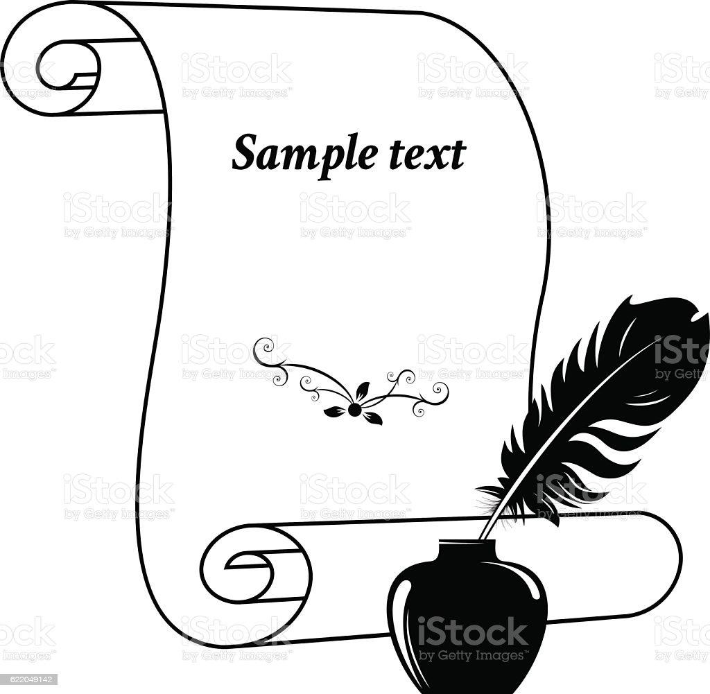 Scroll paper. vector art illustration