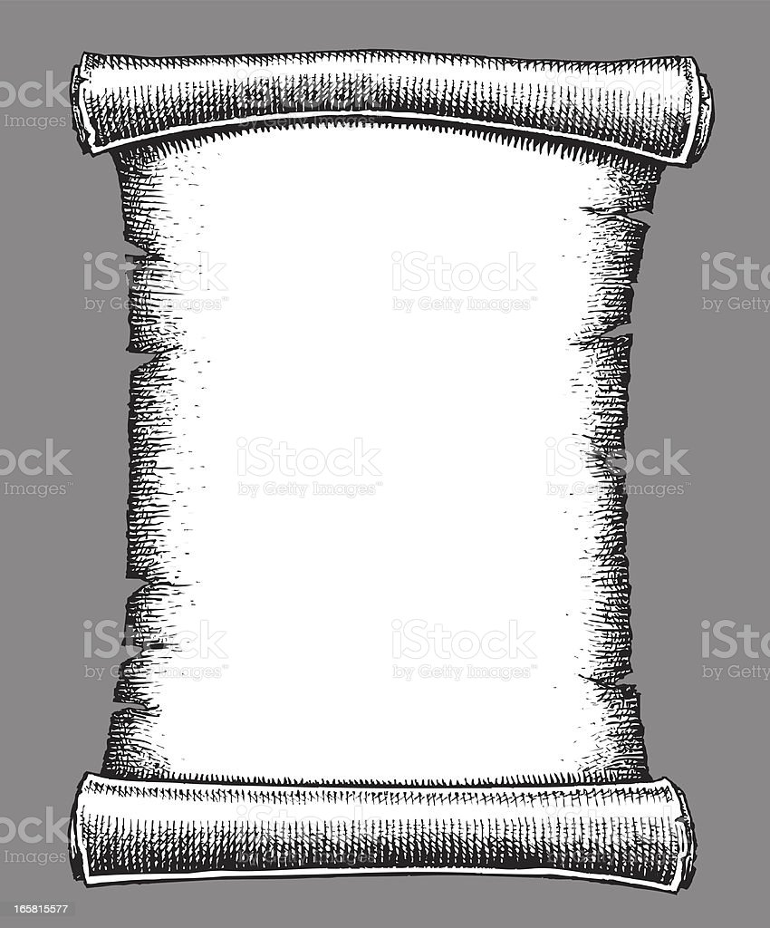 Scroll - Parchment Paper Background vector art illustration