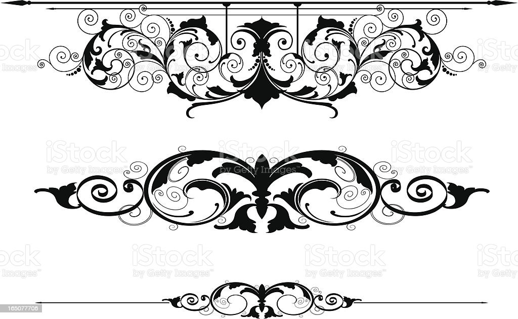 Scroll Rule Lines royalty-free scroll rule lines stock vector art & more images of art nouveau