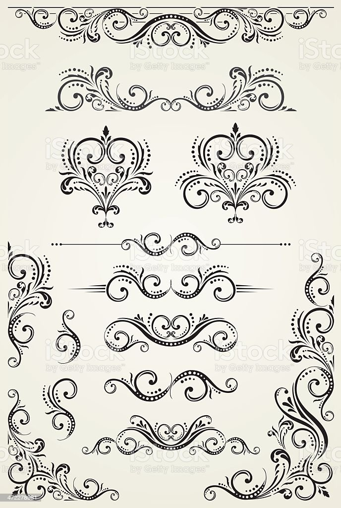 Scroll Set royalty-free stock vector art