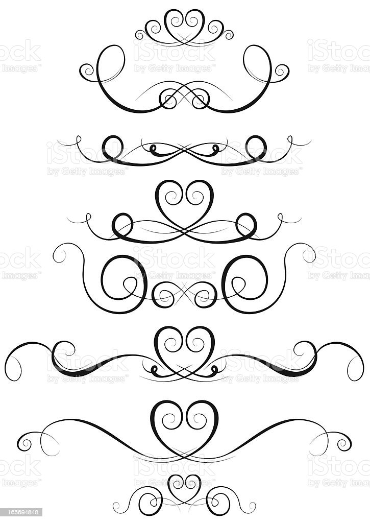 scroll shaped swirls stock vector art more images of abstract