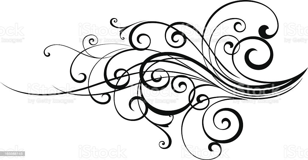 Scroll Swirl vector art illustration