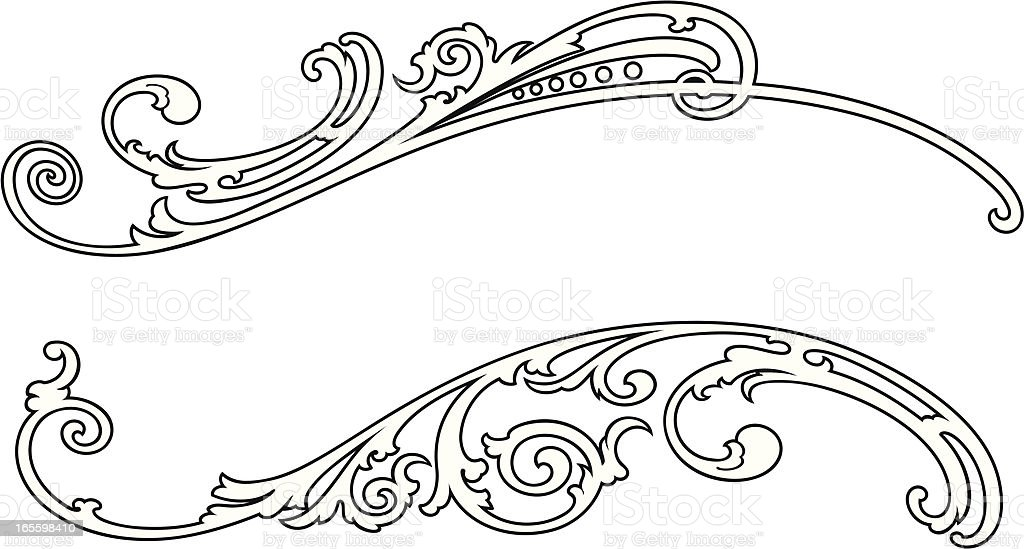 Scroll vector art illustration