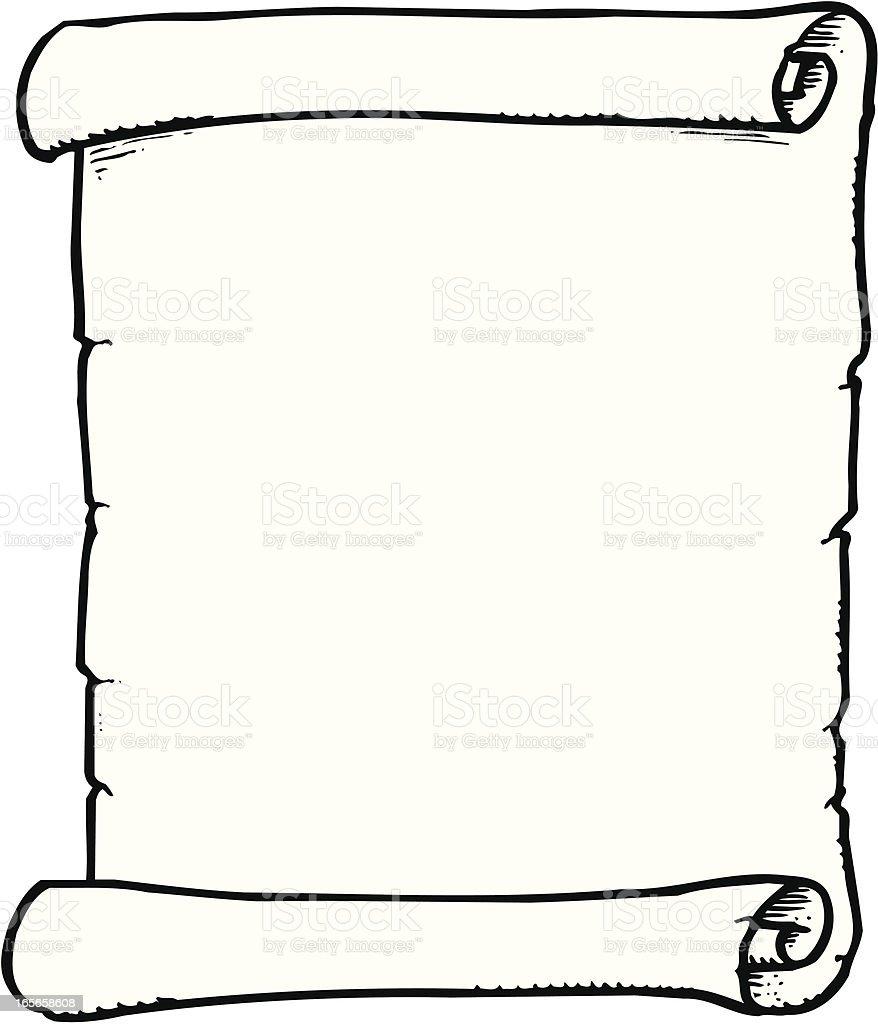Scroll vector art illustration