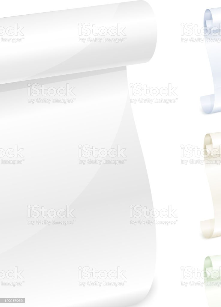 Scroll white paper royalty-free scroll white paper stock vector art & more images of blank