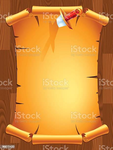 Scroll With A Dagger-vektorgrafik och fler bilder på Anslagstavla