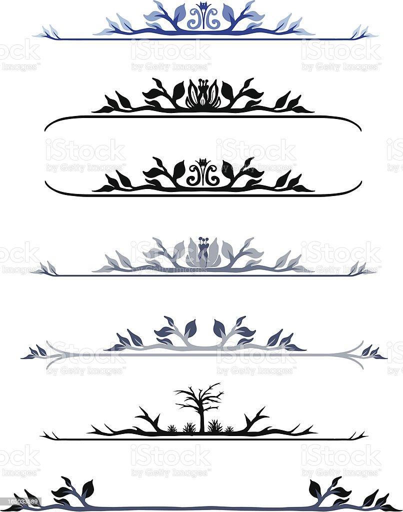Scroll Work 03 royalty-free stock vector art