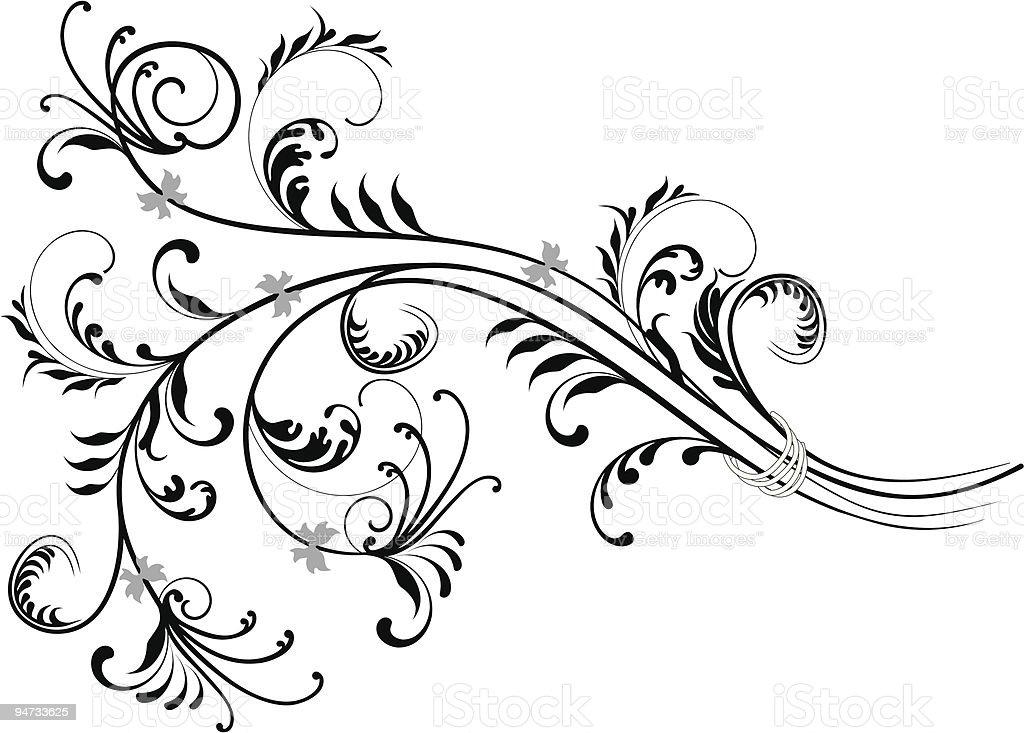 Scroll X royalty-free stock vector art