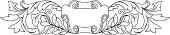 vectorized shield & Vine Motif