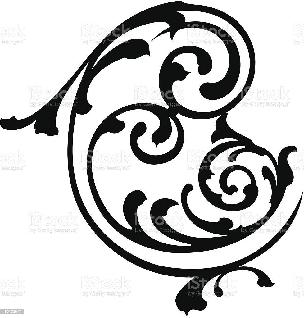 scroll8b royalty-free stock vector art