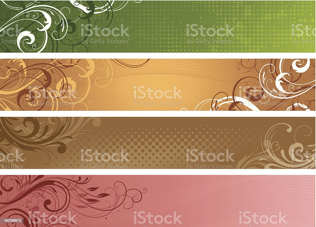 scroll_banners royalty-free stock vector art