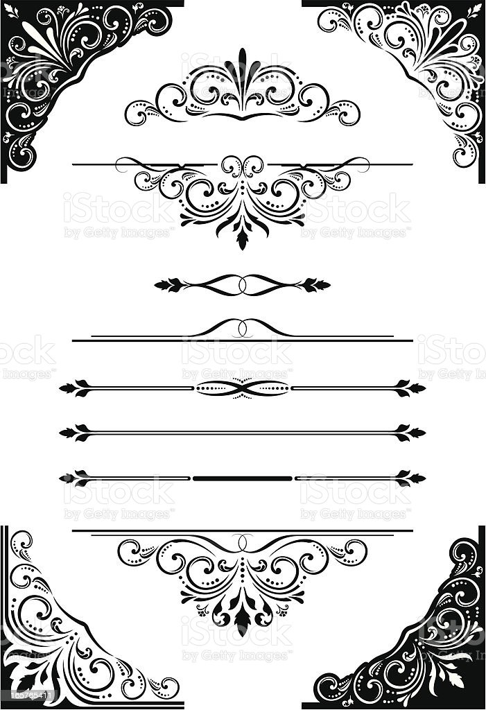 Scroll_Corners_Dividers royalty-free stock vector art