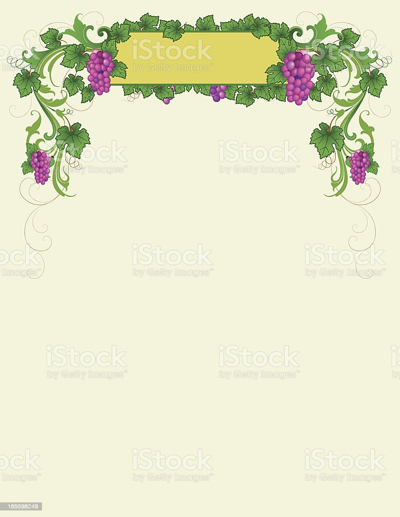 Scrolling Grapevine Header royalty-free scrolling grapevine header stock vector art & more images of backgrounds